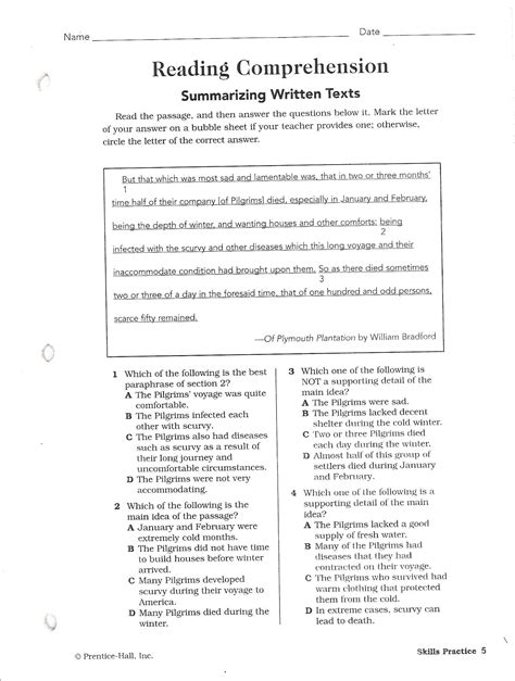 comprehension test sat reading comprehension questions pdf