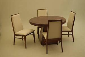 pierre cardin round obelisk dining table in walnut with With round dining room tables with leaf