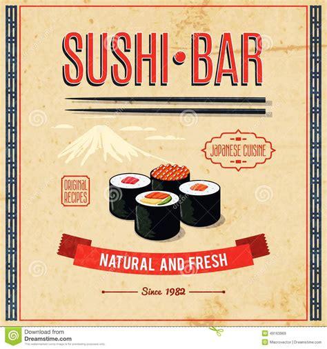 affiche vintage cuisine food poster stock vector image 49163969