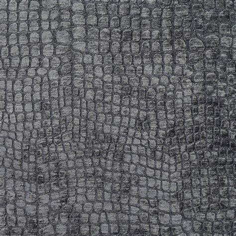 grey alligator print shiny woven velvet upholstery fabric