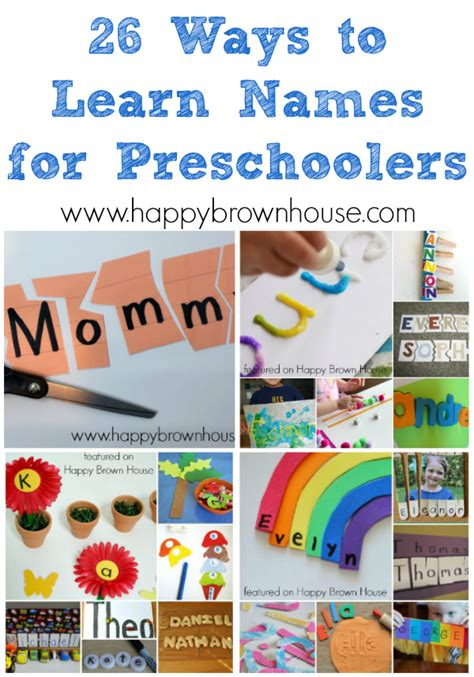 26 ways to learn names for preschoolers happy brown house 379 | 26 Ways to Learn Names for Preschoolers