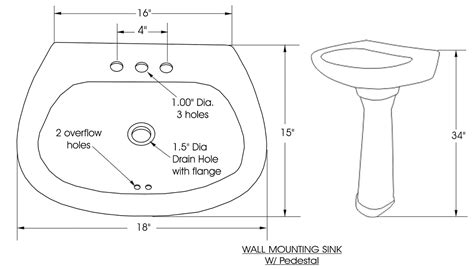 Standard Bathroom Sink Dimensions