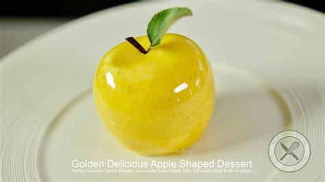 golden delicious apple shaped dessert bruno albouze