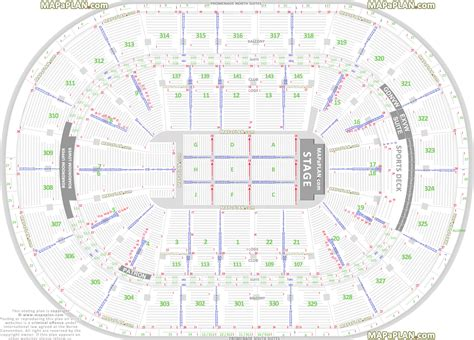 boston td garden detailed seat row numbers end stage