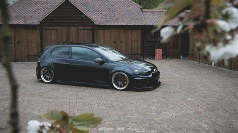 Slammed At A Golf Tourna vw golf mk7 r