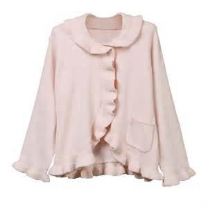 ruffle chenille bed jacket
