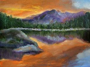 Sunset Mountains Painting