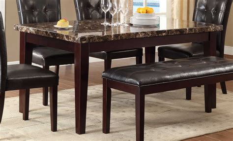fake marble table tops teague espresso dining table with faux marble top dining