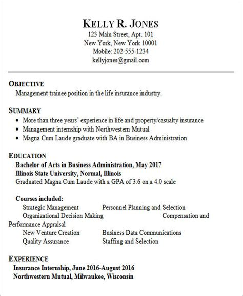 Resume Format For Bba Graduates by 30 Fresher Resume Templates Free Premium Templates