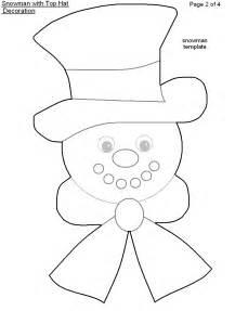 Printable Snowman Top Hat Pattern