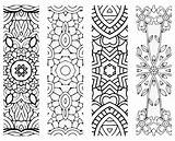 Bookmarks Zentangle Patterns Printable Coloring Printablee Reading Totally Via sketch template