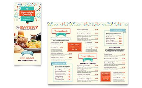 tri fold menu templates word publisher templates