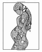 Coloring Pregnancy Zentangle Adults Pregnant Adult Hands sketch template
