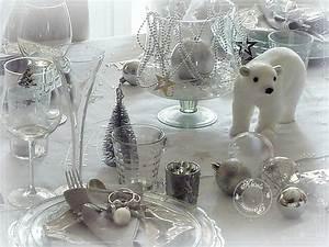 Table De Noel Blanche : ma table de no l stella polaire argent et blanc nicole passions ~ Carolinahurricanesstore.com Idées de Décoration