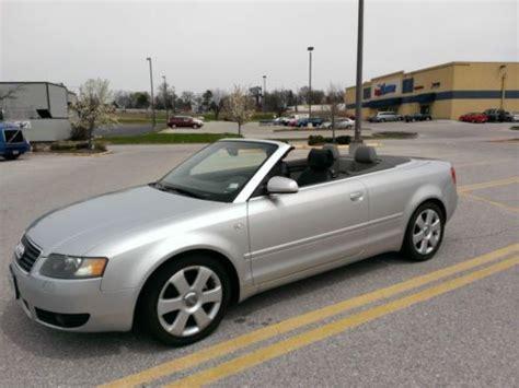 audi 4 door convertible purchase used 2004 audi a4 cabriolet convertible 2 door 1