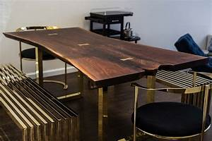 Live Edge Wood Slab Tables and Furniture RE-CO BKLYN