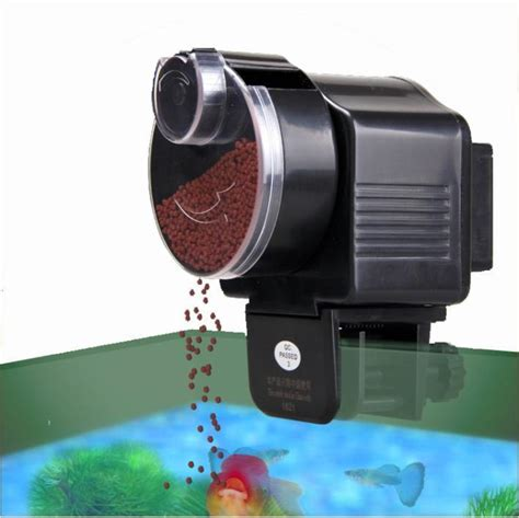 automatic fish feeder new resun automatic auto fish food feeder aquarium ebay