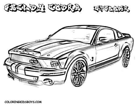 Ford Kleurplaat by Mustang Coloring Pages Bestofcoloring
