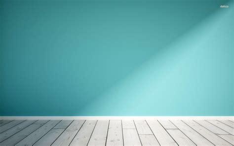 wooden floor  blue wall digital art wallpaper