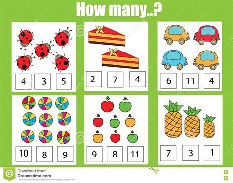 Counting Educational Children Game, Kids Activity