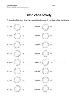 time zone activity by stayathometeacher teachers pay