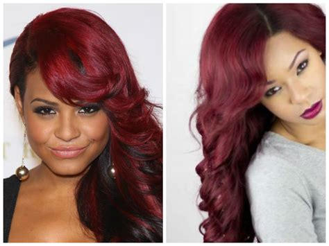 burgundy hair style black and burgundy hairstyles fade haircut