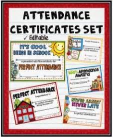 digital  printable student attendance incentive
