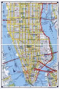Large detailed road map of South Manhattan, NYC | New York ...