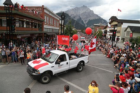 parade float decorations edmonton celebrate canada day in banff