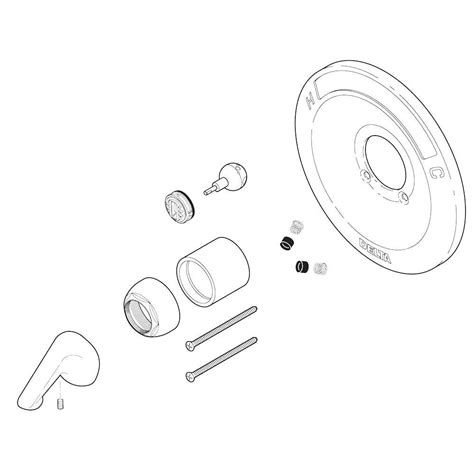 delta shower parts delta 600 series tub and shower renovation kit in venetian
