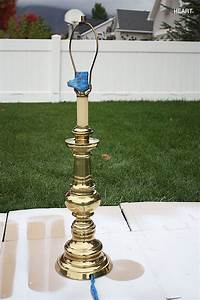 how to spray paint brass lamps photo lamp5 zpsb0dcb137 With metal floor lamp makeover