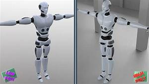 Robot Man Character 3d Model