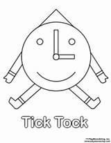 Tick Tock Coloring Sunny Sheets Sukey Welcome sketch template