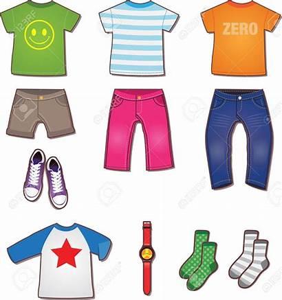 Clothes Clipart Boys Way Illustrazione Colorful Kid
