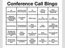 Conference Call Bingo Business Pinterest Conference call