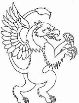 Griffin Outline Simple Tattoo Tattoos Coloring Cool Outlines Scary Designs Printable Body Cartoon Pages Drawing Monkey Drawings Easy Melted Wax sketch template