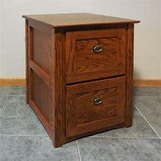 Authentic Mission 2 Drawer File Cabinet Solid Oak #320  Ebay