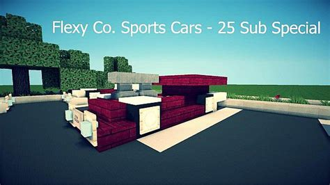 minecraft sports car car pack 25 sub special flexy co sports cars featured