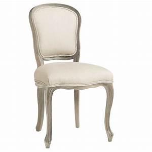 Chaise Jardin Maison Du Monde : chaise en lin et ch ne versailles maisons du monde ~ Premium-room.com Idées de Décoration