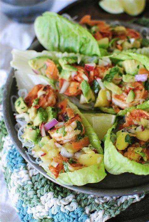 Prawn Taco Boats by Fiery Shrimp Lettuce Boats With An Avocado Mango Relish