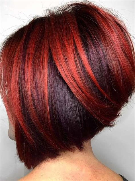 hottest red hair color ideas  short bob cuts