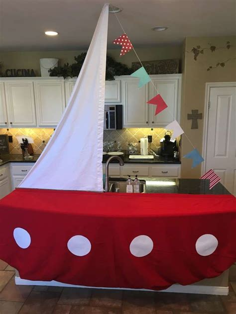 Nautical Baby Shower Party Ideas  Sailing Boat, Dessert