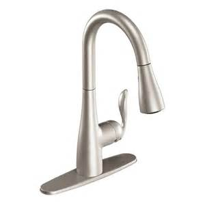 lowes faucets kitchen shop moen arbor stainless 1 handle pull deck mount kitchen faucet at lowes com