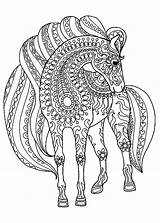 Coloring Horse Pages Adults Printable sketch template