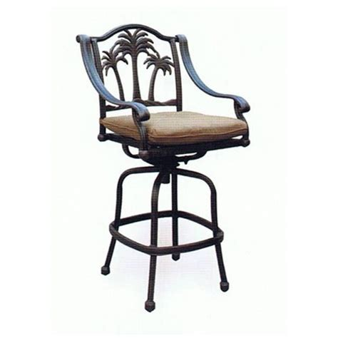outdoor patio bar stools heritage outdoor living palm tree cast aluminum barstool