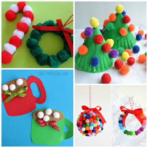 pom pom christmas crafts for kids crafty morning
