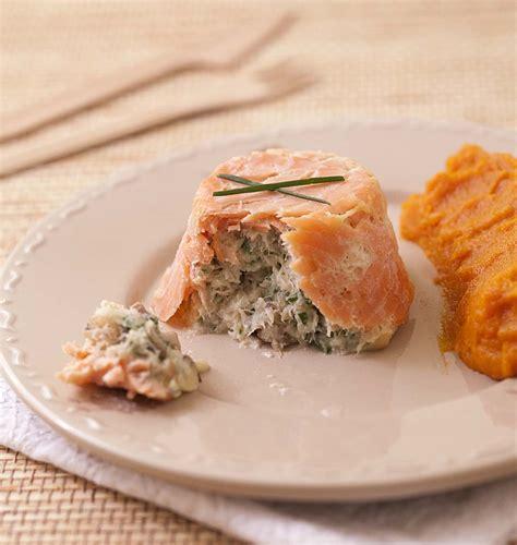 cuisine fut saumon terrines de saumon fumé au poisson blanc chignons et