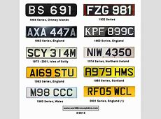 License Plates of the United Kingdom