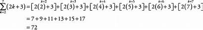 Summation Notation Example Series Equation Cliffsnotes