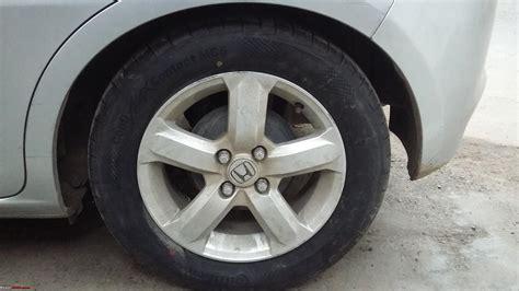 honda jazz tyre wheel upgrade thread page  team bhp
